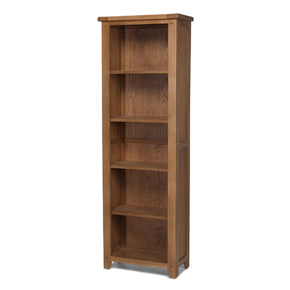 Loxley Oak Tall Slim Bookcase