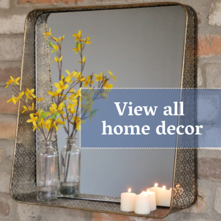 home decor - mirrors, clocks, ornaments